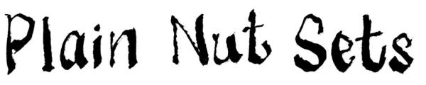 PLAIN NUT SETS